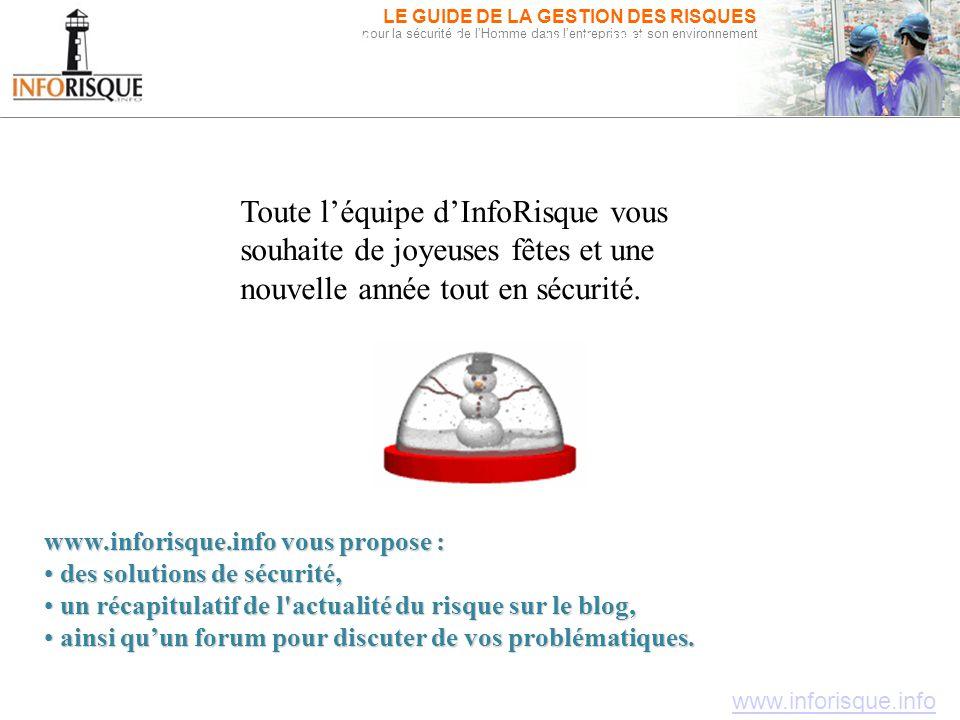 Inforisque.info, pour la sécurité de l'Homme dans l'entreprise et son environnement