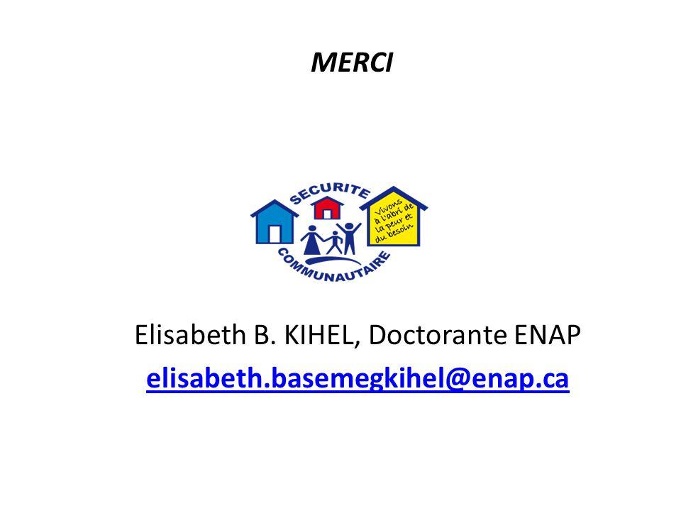 Elisabeth B. KIHEL, Doctorante ENAP