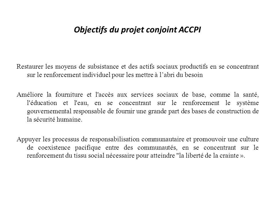 Objectifs du projet conjoint ACCPI