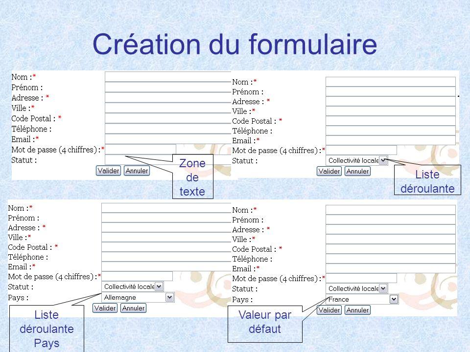 Création du formulaire