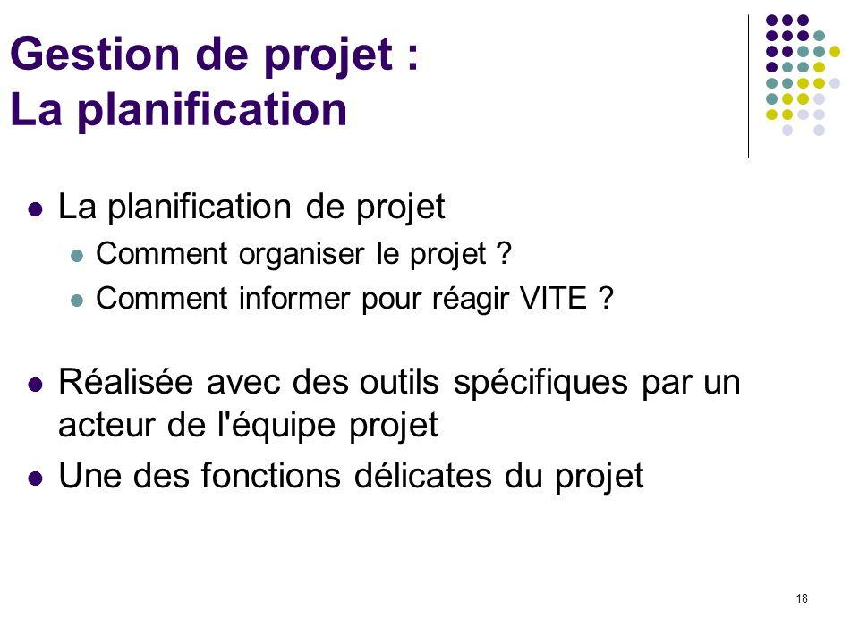Gestion de projet : La planification