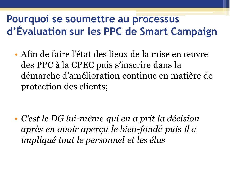 Pourquoi se soumettre au processus d'Évaluation sur les PPC de Smart Campaign
