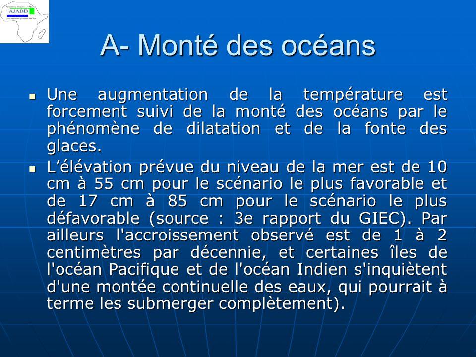 A- Monté des océans