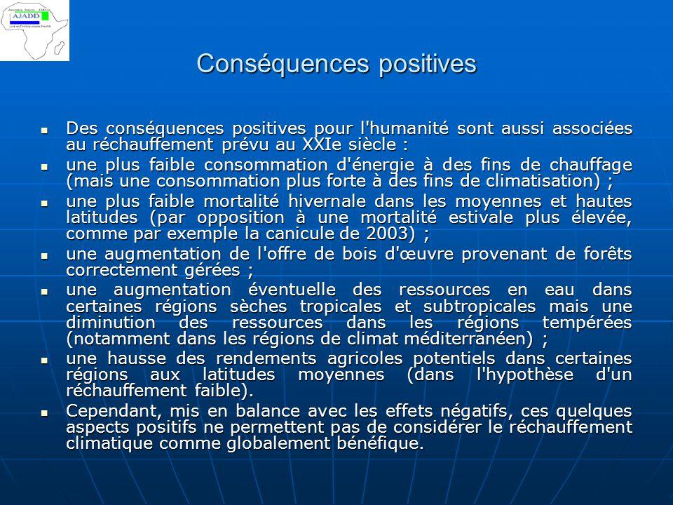 Conséquences positives