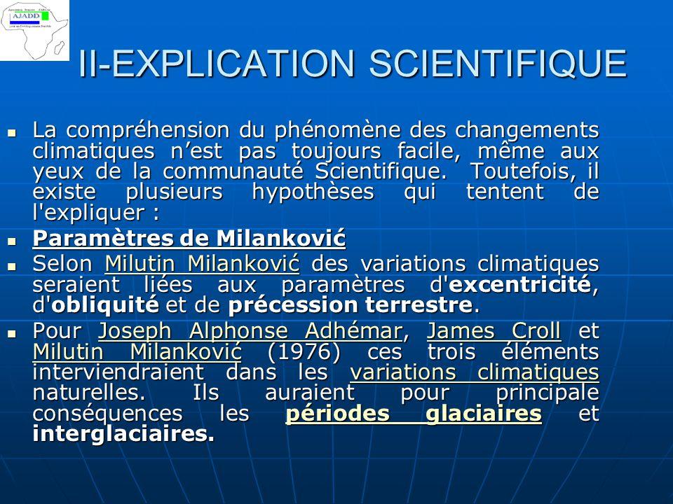 II-EXPLICATION SCIENTIFIQUE