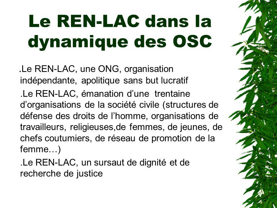 Le REN-LAC dans la dynamique des OSC
