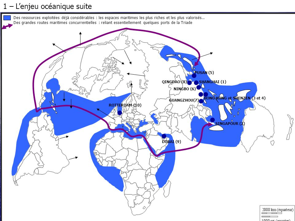 1 – L'enjeu océanique suite