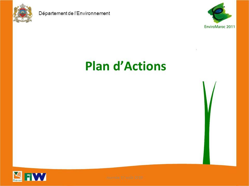 Plan d'Actions Journée 17 août 2010