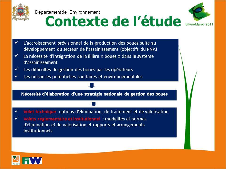 Nécessité d élaboration d'une stratégie nationale de gestion des boues