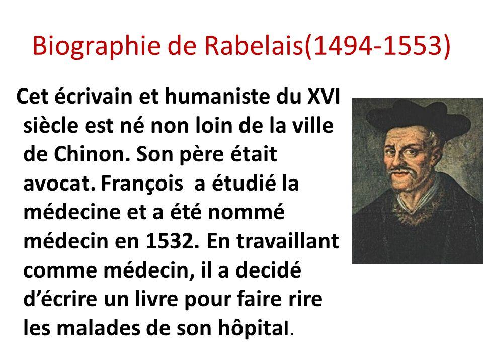 Biographie de Rabelais(1494-1553)