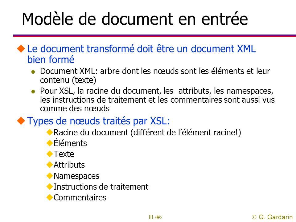 Modèle de document en entrée