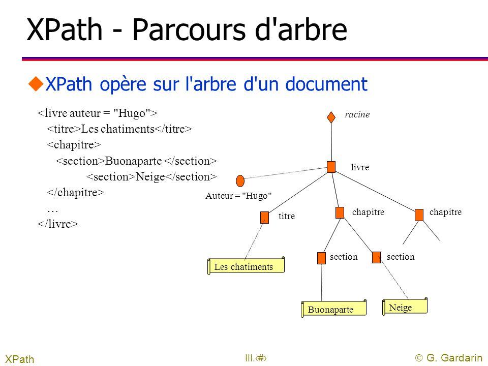 XPath - Parcours d arbre