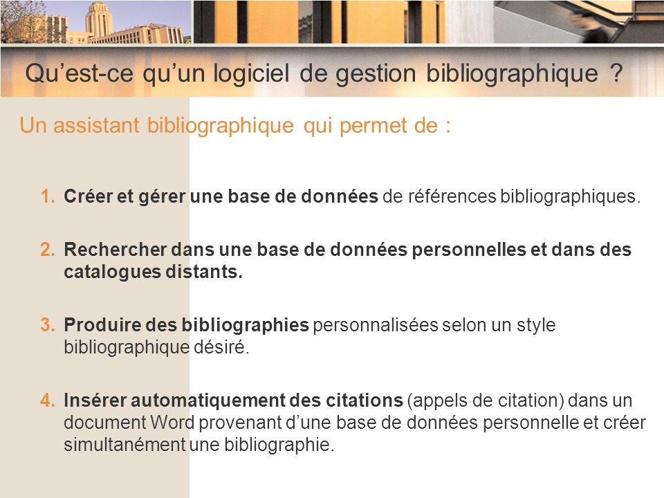 Qu'est-ce qu'un logiciel de gestion bibliographique