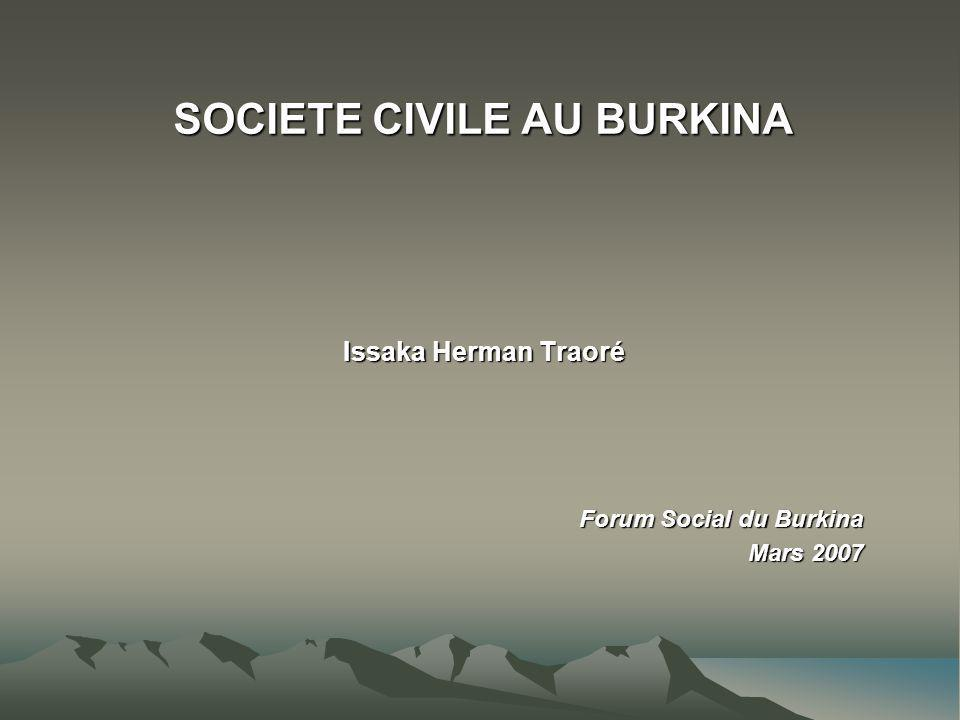 SOCIETE CIVILE AU BURKINA