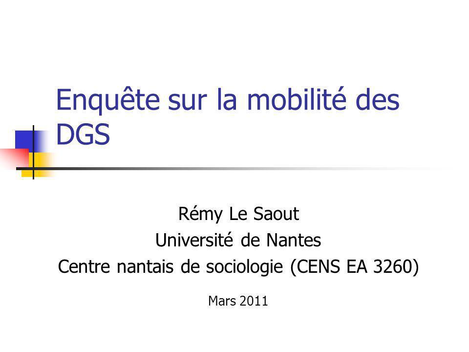 Enquête sur la mobilité des DGS