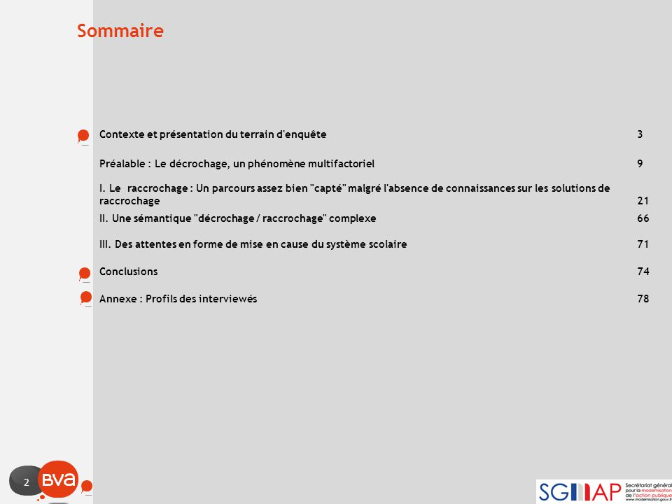 Sommaire Contexte et présentation du terrain d enquête 3