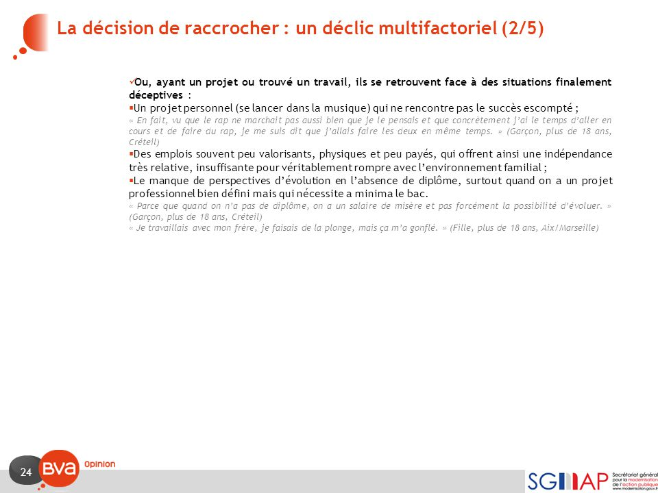 La décision de raccrocher : un déclic multifactoriel (2/5)