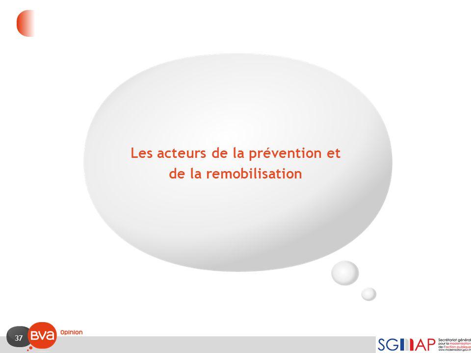 Les acteurs de la prévention et de la remobilisation