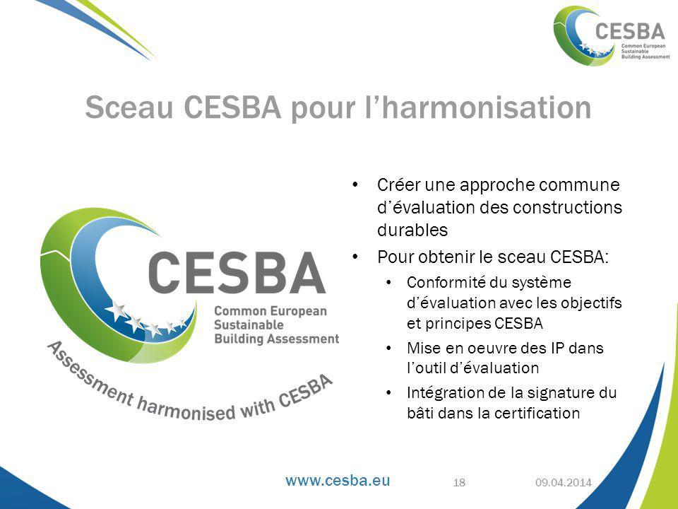 Sceau CESBA pour l'harmonisation