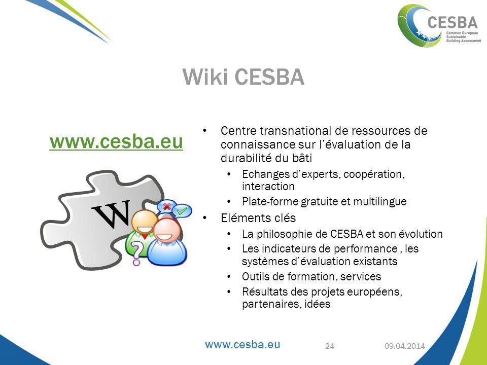Wiki CESBA Centre transnational de ressources de connaissance sur l'évaluation de la durabilité du bâti.