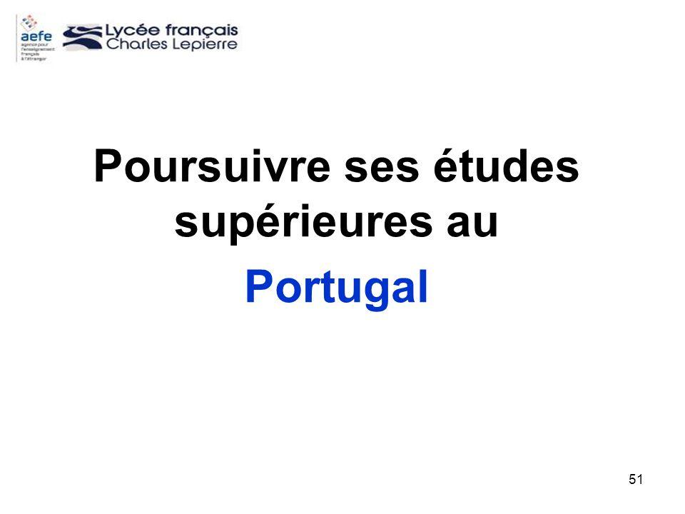 Poursuivre ses études supérieures au Portugal