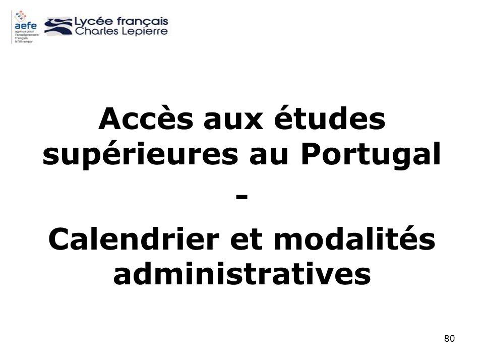 Accès aux études supérieures au Portugal -