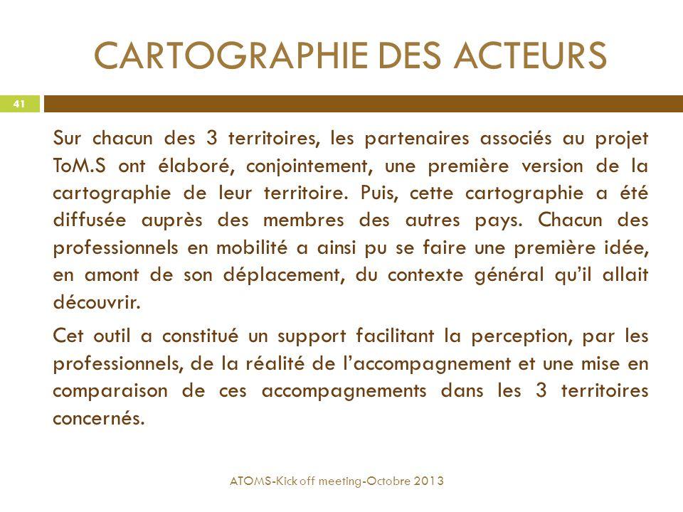 CARTOGRAPHIE DES ACTEURS