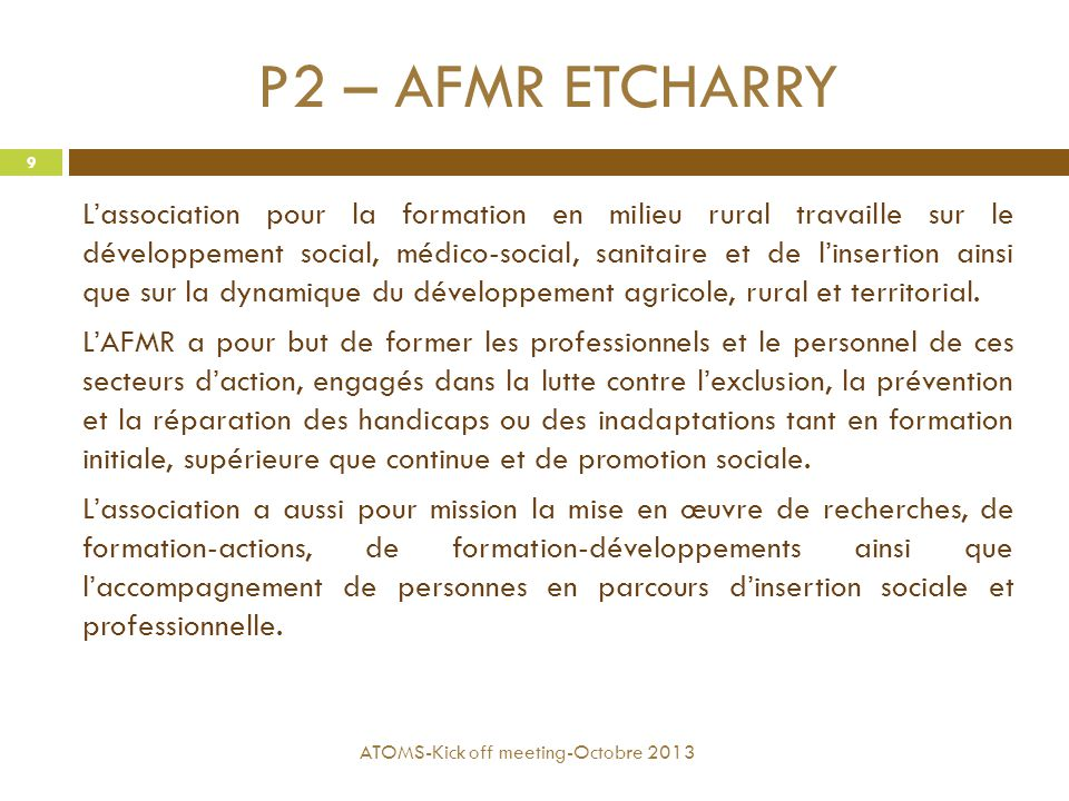 P2 – AFMR ETCHARRY