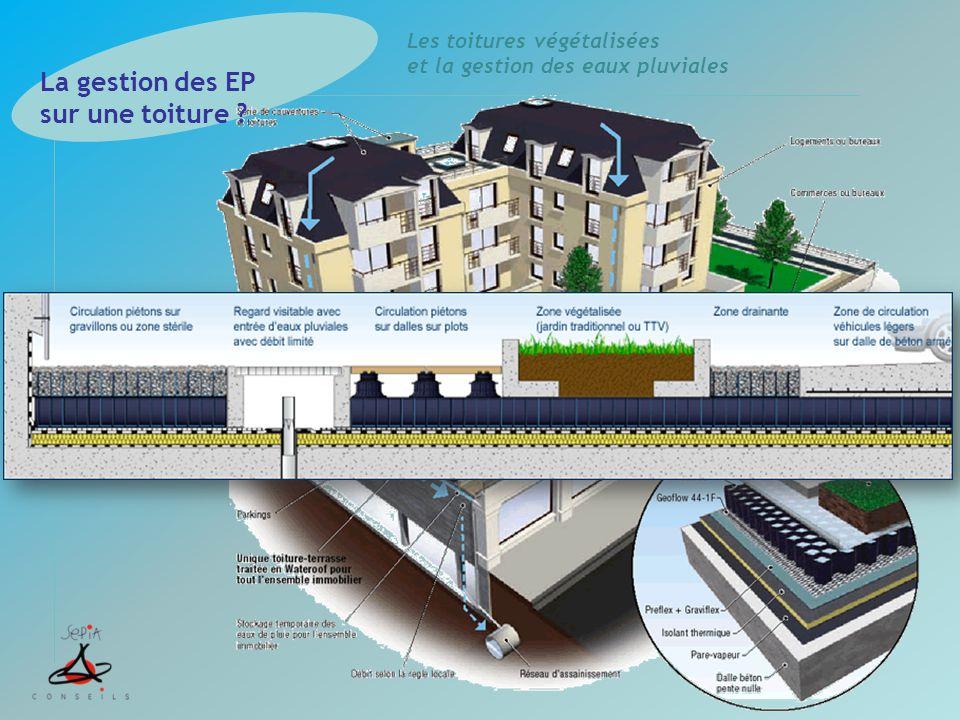 La gestion des EP sur une toiture