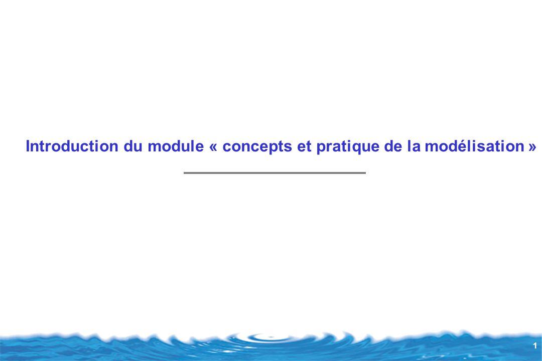 Introduction du module « concepts et pratique de la modélisation »
