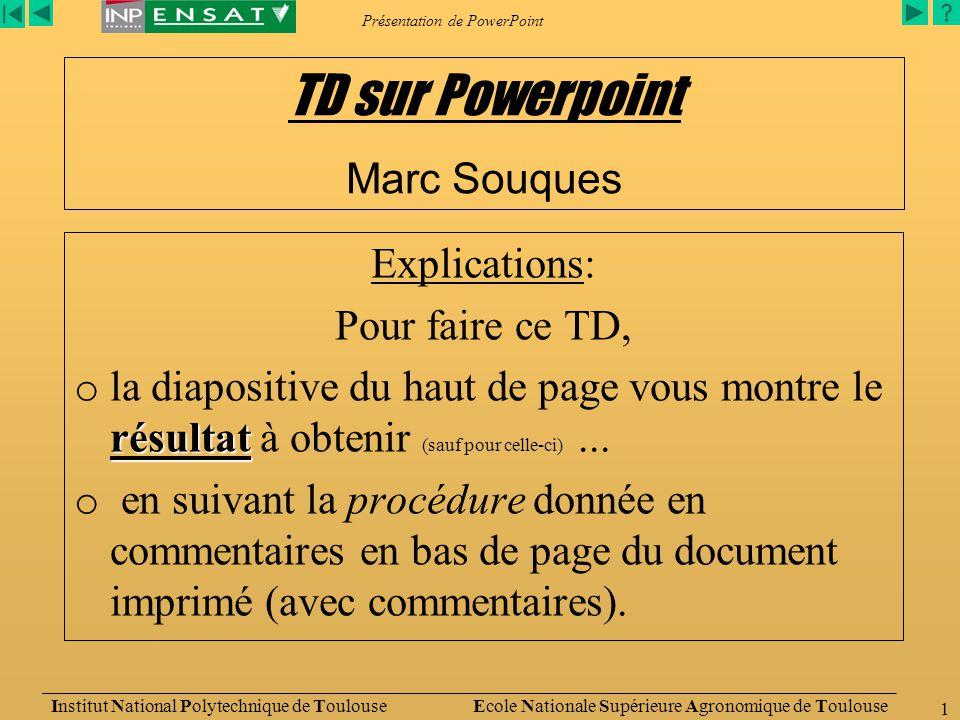 Présentation de PowerPoint
