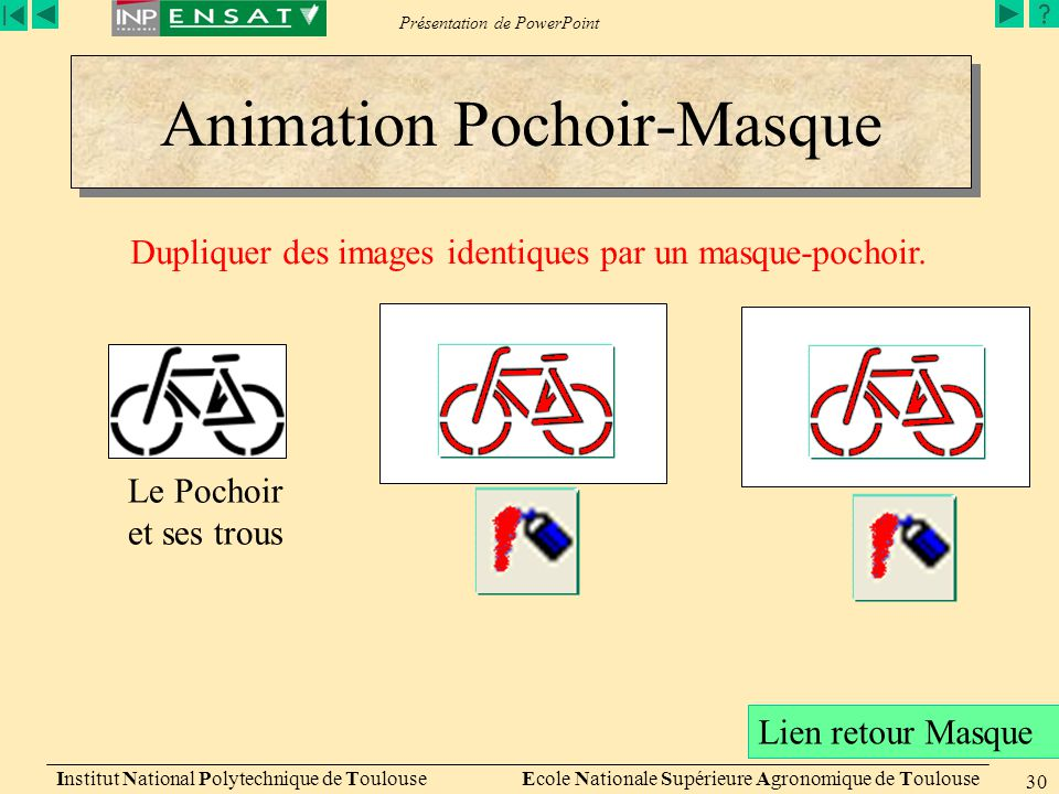 Animation Pochoir-Masque