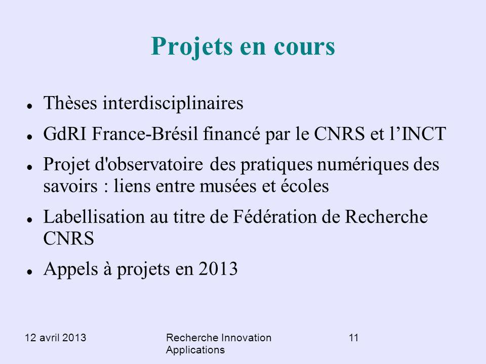 Projets en cours Thèses interdisciplinaires