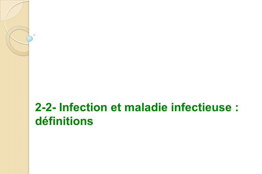 2-2- Infection et maladie infectieuse : définitions