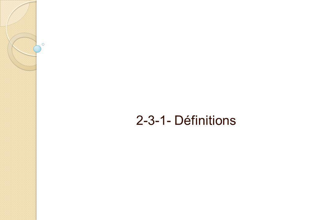 2-3-1- Définitions