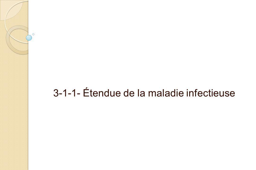 3-1-1- Étendue de la maladie infectieuse