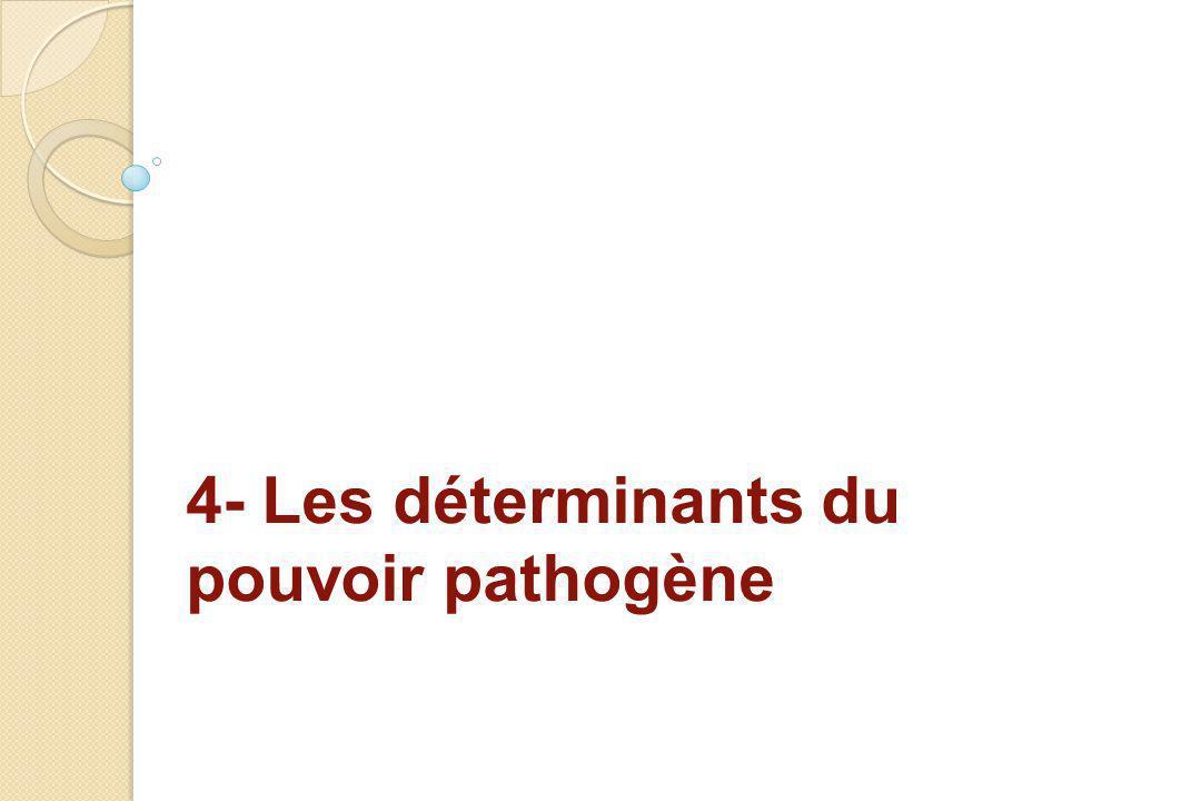 4- Les déterminants du pouvoir pathogène