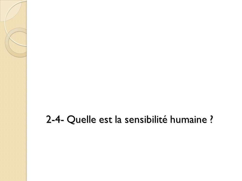 2-4- Quelle est la sensibilité humaine
