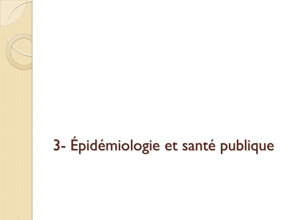 3- Épidémiologie et santé publique