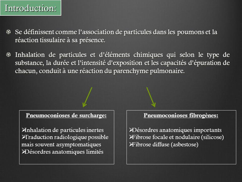 Pneumoconioses de surcharge: Pneumoconioses fibrogènes: