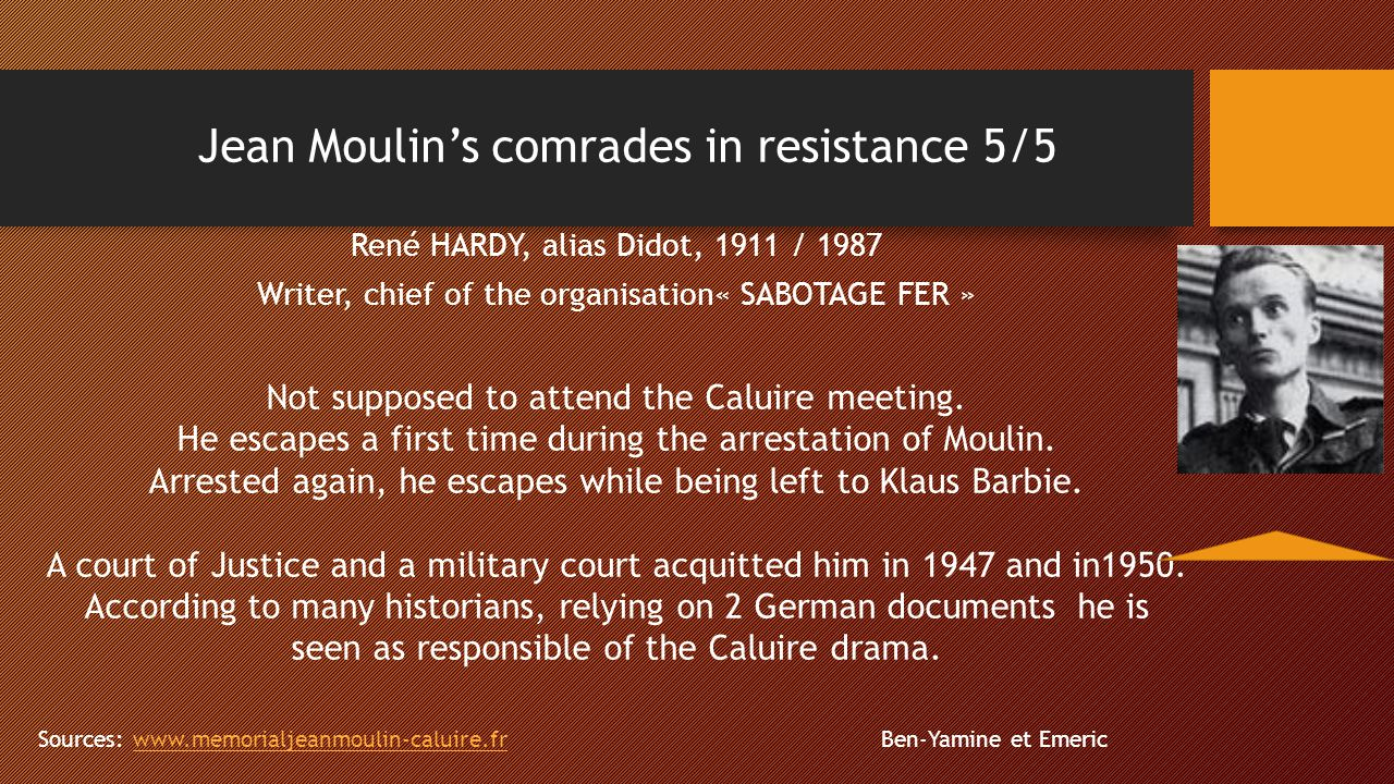 Jean Moulin's comrades in resistance 5/5