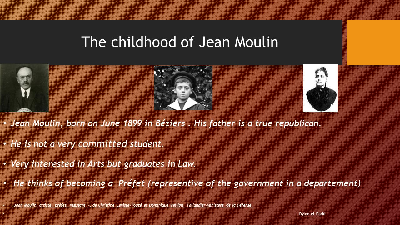 The childhood of Jean Moulin
