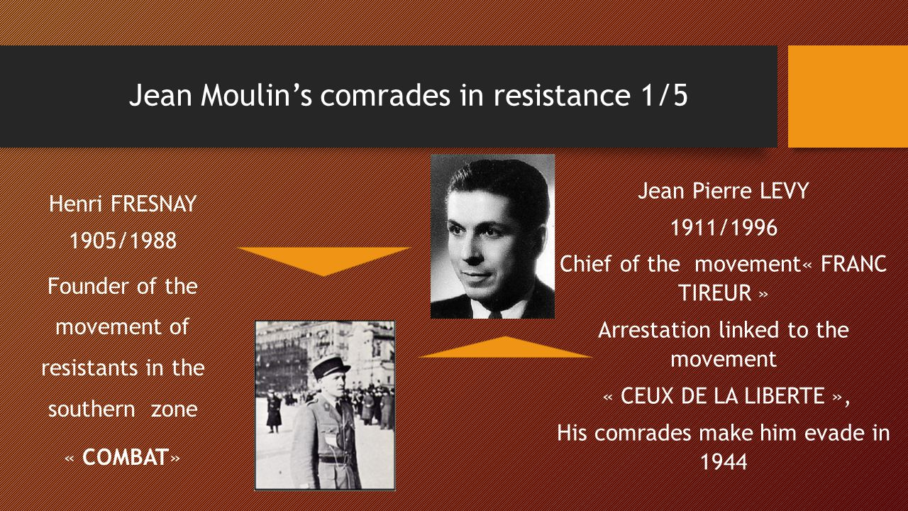 Jean Moulin's comrades in resistance 1/5