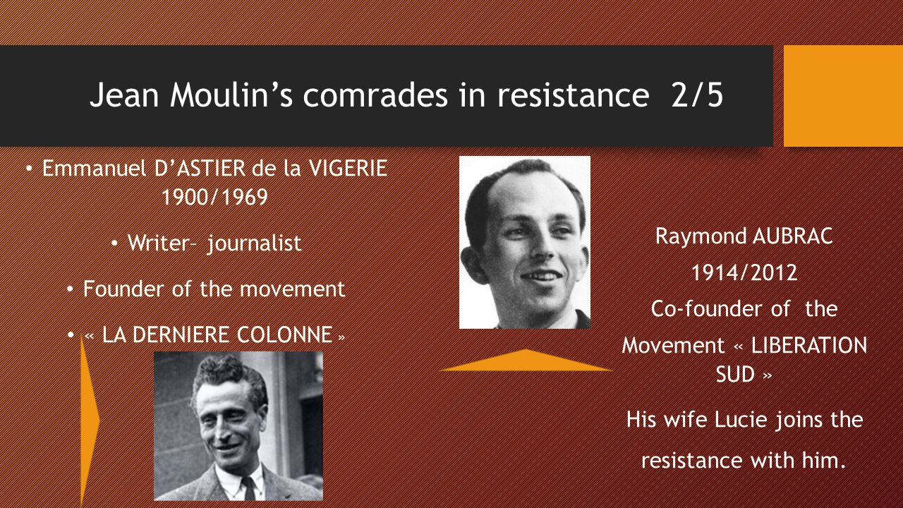 Jean Moulin's comrades in resistance 2/5