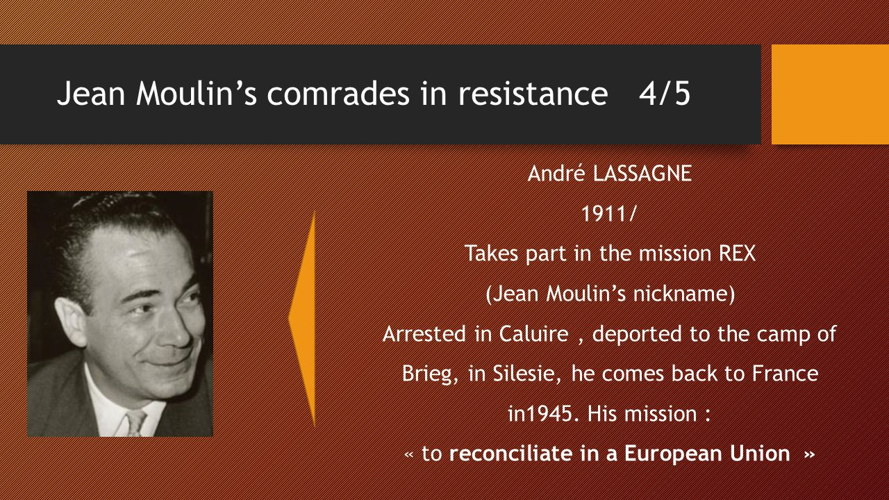 Jean Moulin's comrades in resistance 4/5