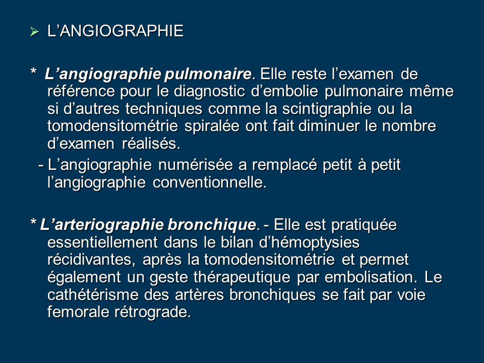 L'ANGIOGRAPHIE
