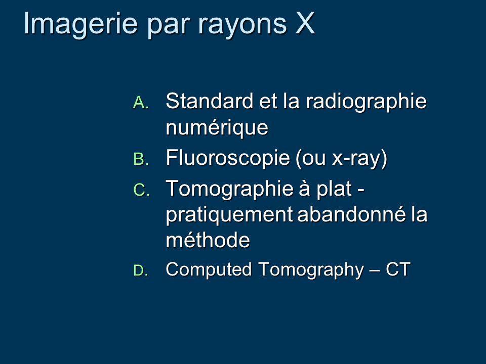 Imagerie par rayons X Standard et la radiographie numérique