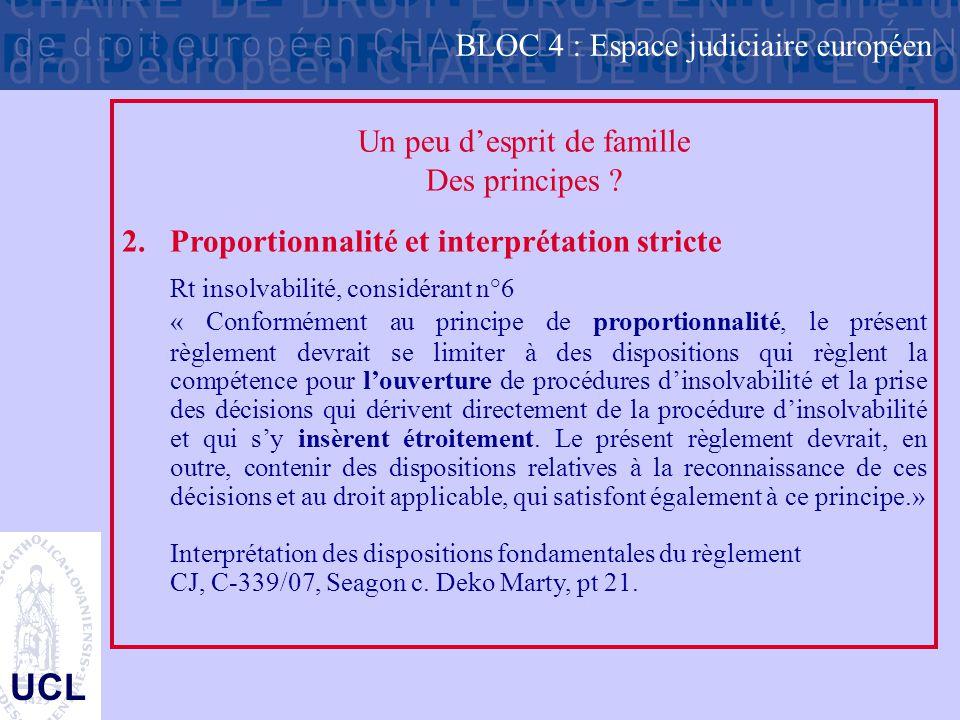 BLOC 4 : Espace judiciaire européen