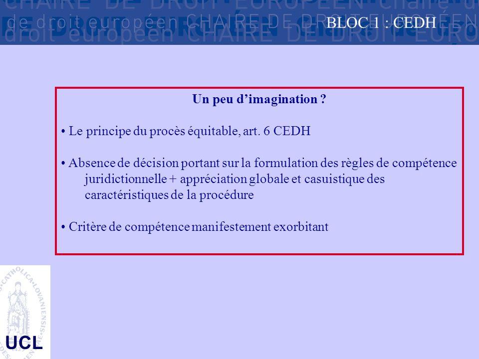 UCL BLOC 1 : CEDH Un peu d'imagination