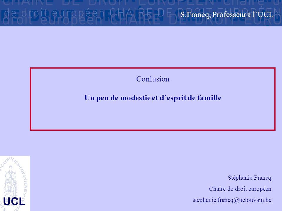 S.Francq, Professeur à l'UCL